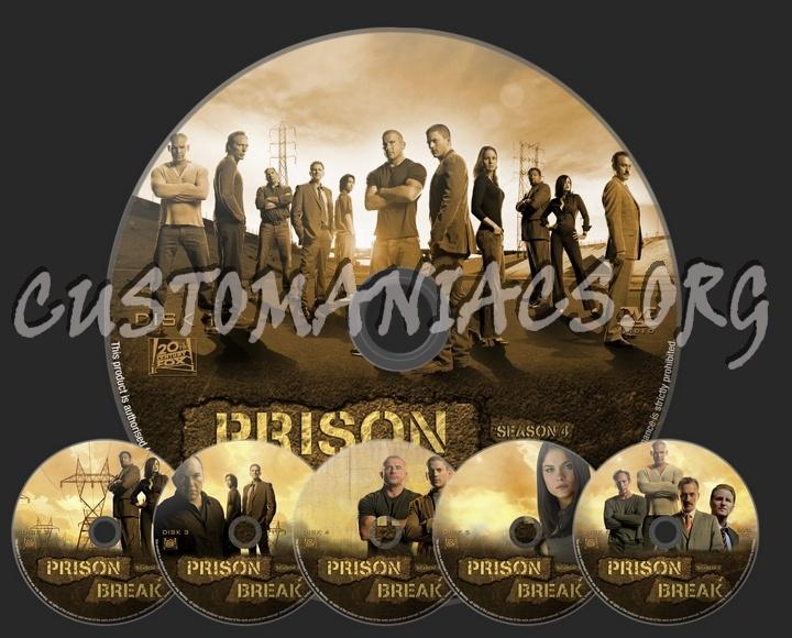 Prison Break Season 4 dvd label
