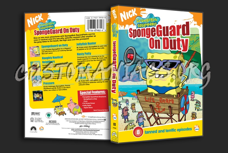 spongebob squarepants spongeguard on duty dvd cover dvd