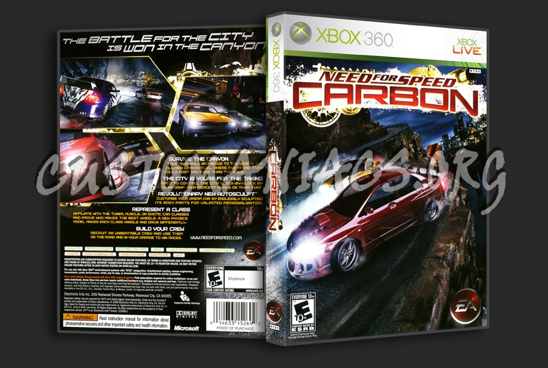 Need For Speed Carbon Dvd Cover Dvd Covers Labels By