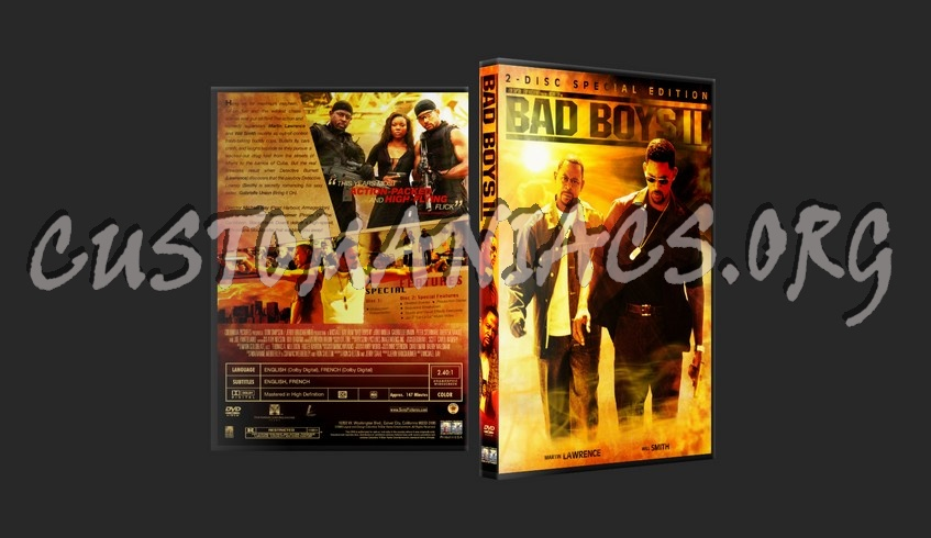 Bad Boys II Special Edition dvd cover
