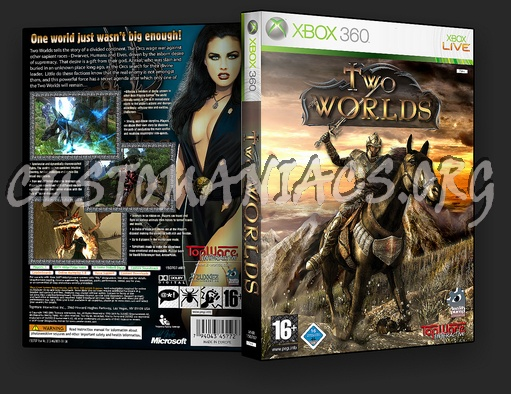 Book Cover Handmade Xbox One : Two worlds dvd cover covers labels by customaniacs