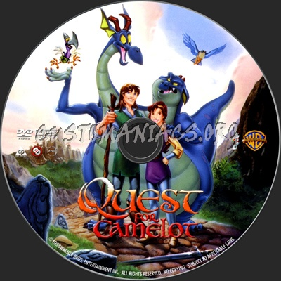 Quest for Camelot dvd label