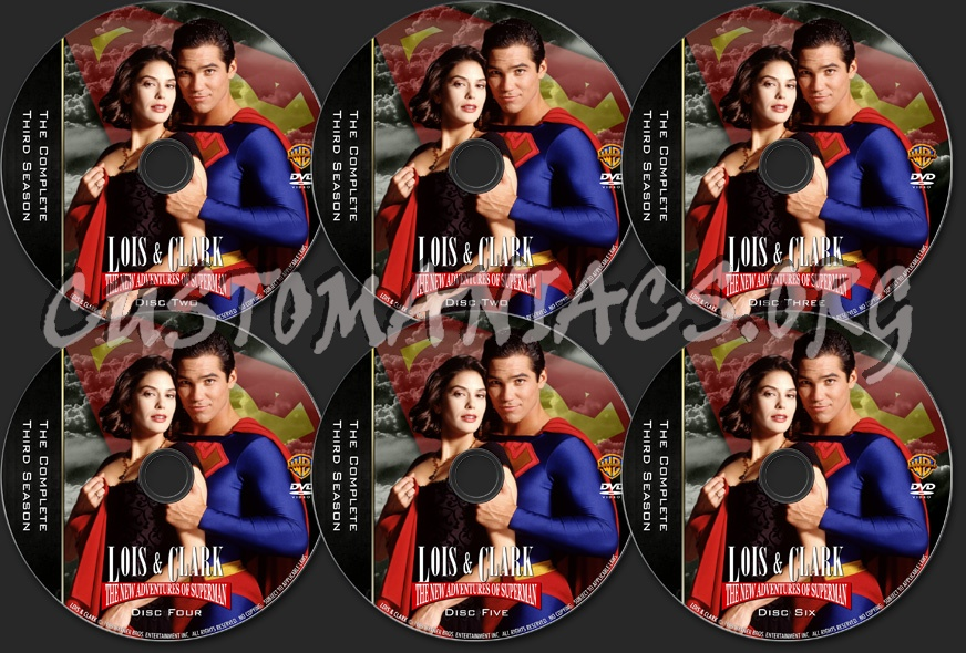 Lois & Clark - TV Collection Season Three dvd label
