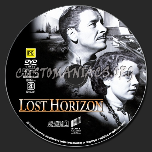 Lost Horizon dvd label