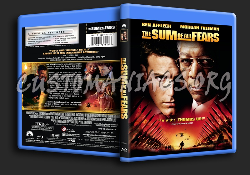 The Sum of All Fears blu-ray cover