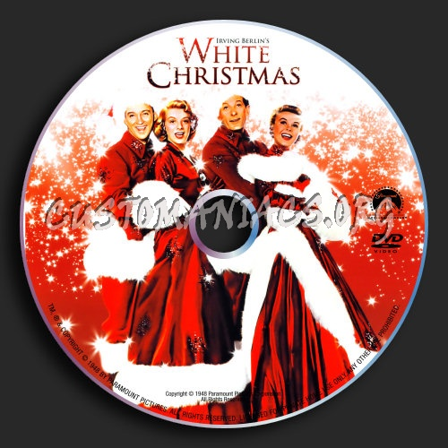 White Christmas dvd label