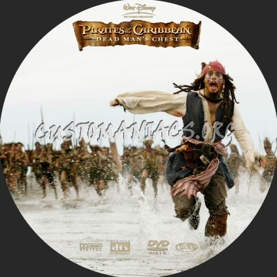 Pirates of The Caribbean - Dead Mans Chest dvd label