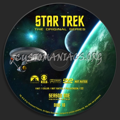 Star Trek - The Original Series Season One  Remastered dvd label