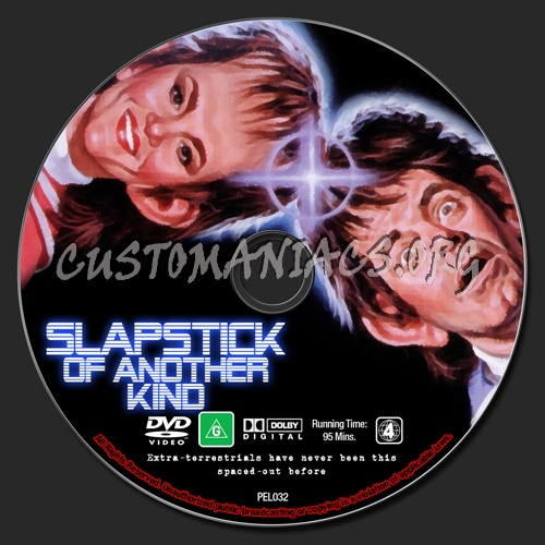 Slapstick Of Another Kind dvd label