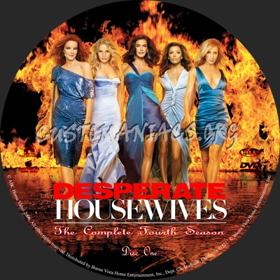 desperate housewives season 4 dvd label dvd covers. Black Bedroom Furniture Sets. Home Design Ideas