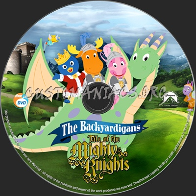 The Backyardigans Tale Of The Mighty Knights dvd label
