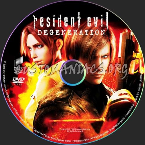 Resident Evil Degeneration dvd label