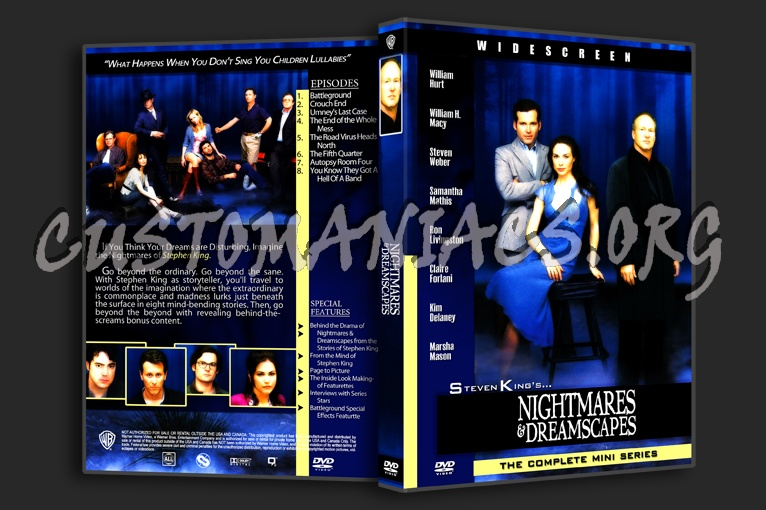 Nightmares and Dreamscapes dvd cover