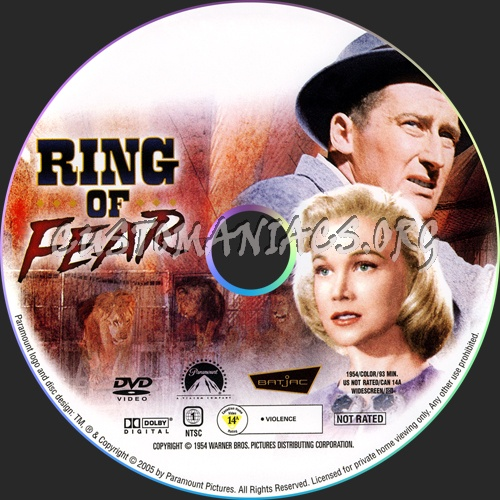 Ring Of Fear dvd label