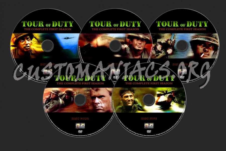 Tour Of Duty Season 1 dvd label