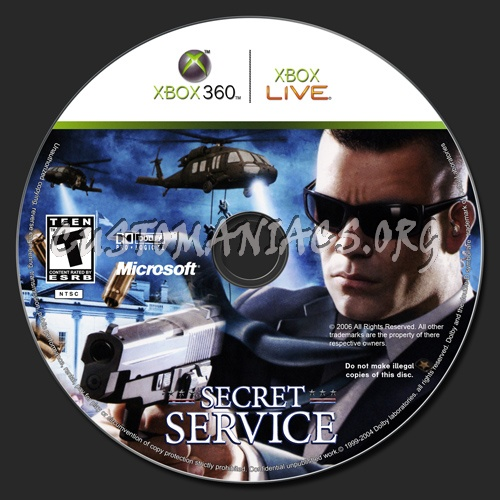 Secret Service dvd label