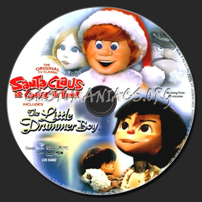 Santa Claus is Comin' to Town / Little Drummer Boy dvd label - DVD ...