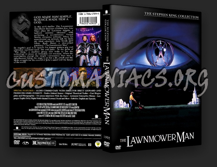 The Lawnmower Man dvd cover