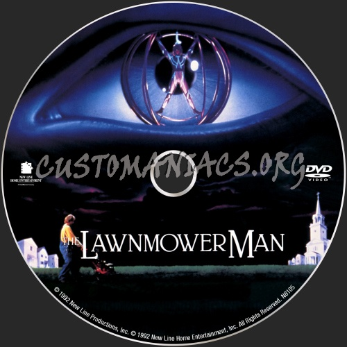 The Lawnmower Man dvd label