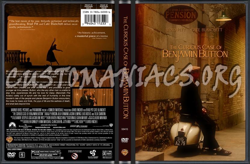 The Curious Case of Benjamin Button dvd cover