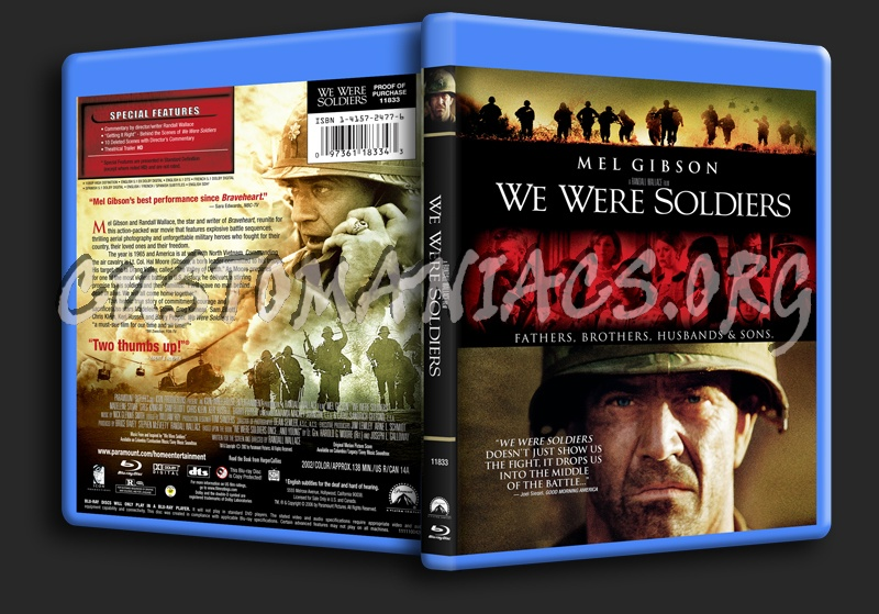 We Were Soldiers blu-ray cover