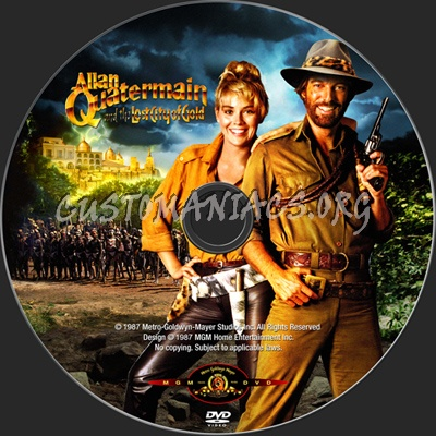 Allan Quatermain and the Lost City of Gold dvd label