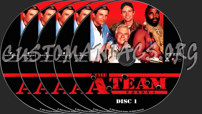 The A-Team Season 1 dvd label - DVD Covers & Labels by Customaniacs