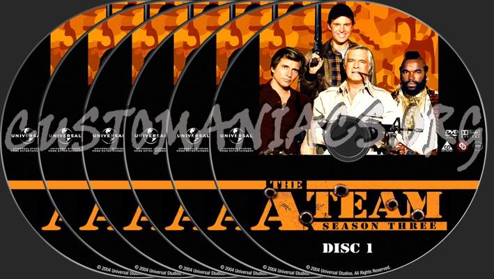 The A-Team Season 3 dvd label