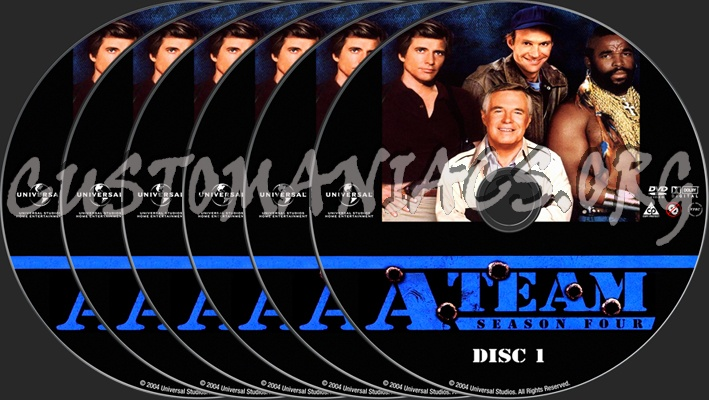 The A-Team Season 4 dvd label