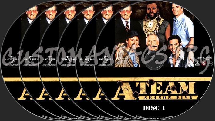 The A-Team Season 5 dvd label