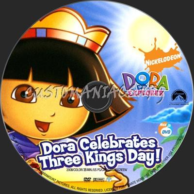 Dora The Explorer Dora Celebrates Three Kings Day! dvd label