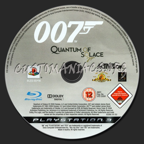 oona chaplin quantum of solace. Quantum of Solace dvd label