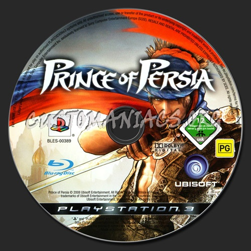 Prince of Persia dvd label