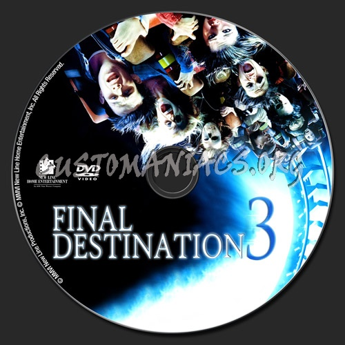 Final Destination 3 dvd label