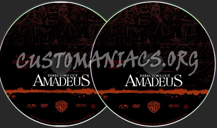 Amadeus Director's Cut dvd label