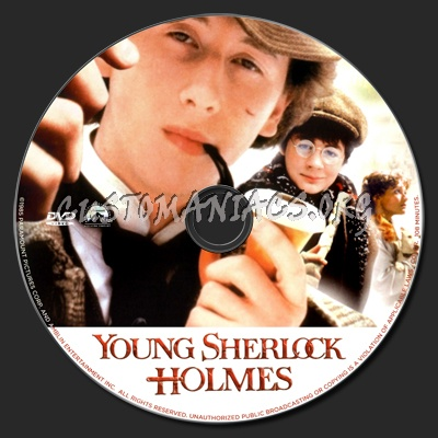 Young Sherlock Holmes dvd label