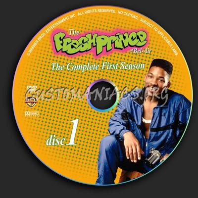 The Fresh Prince Of Bel-Air - Season 1,2,3,4,5,6 dvd label