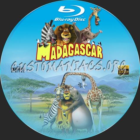 Madagascar blu-ray label