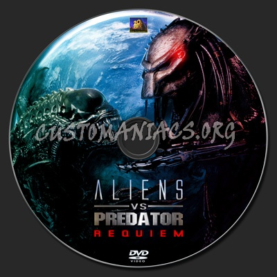 AvP Aliens v Predator - Requiem dvd label