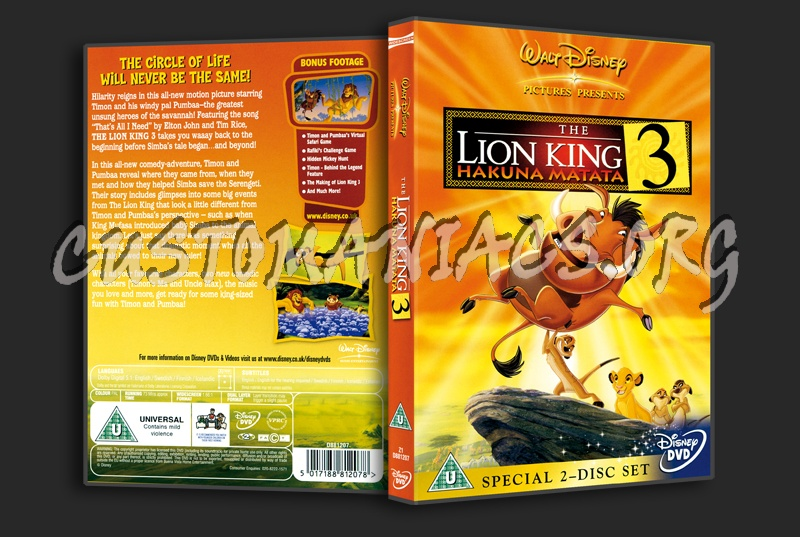 The Lion King 3 dvd cover