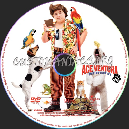 ace ventura jr pet detective dvd label dvd covers labels by customaniacs id 52888 free. Black Bedroom Furniture Sets. Home Design Ideas