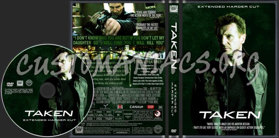 Taken dvd cover