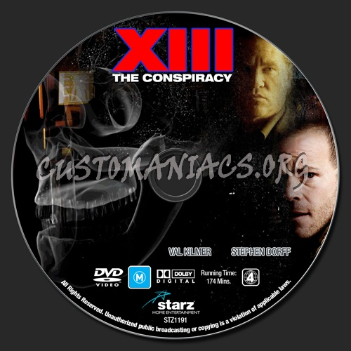XIII The Conspiracy dvd label
