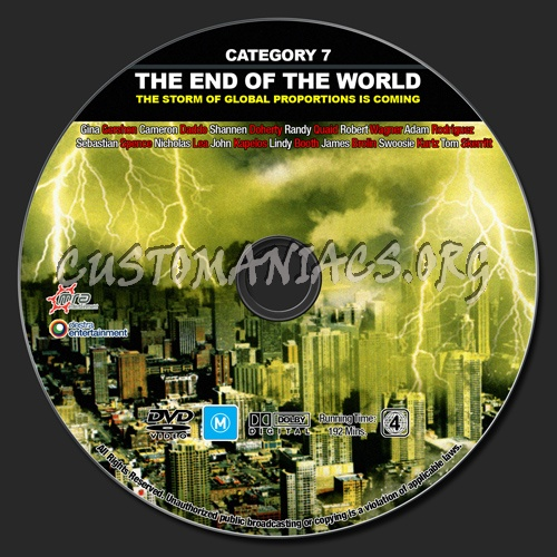Category 7 - The End Of The World dvd label - DVD Covers ...