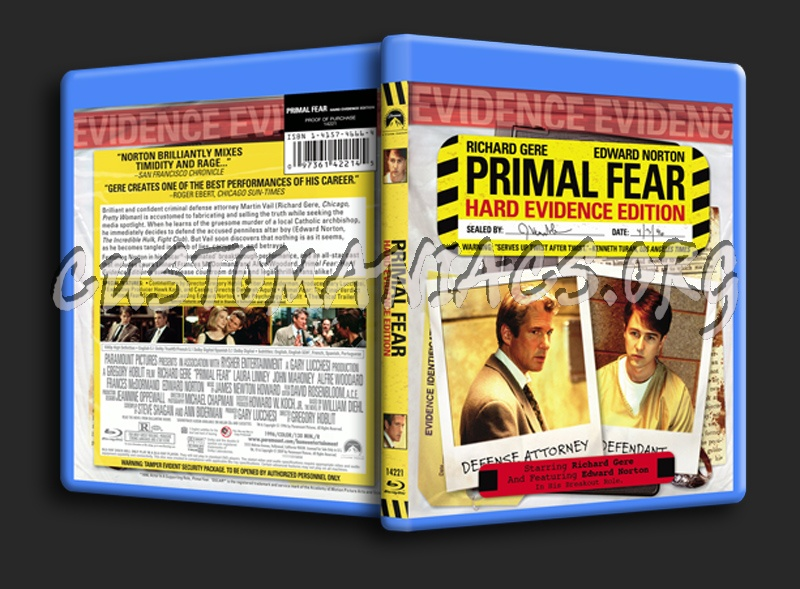 Primal Fear blu-ray cover