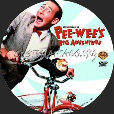 Peewees Big Adventure dvd label