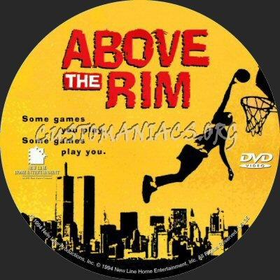 Above the Rim dvd label