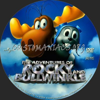 The Adventures of Rocky and Bullwinkle dvd label