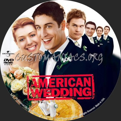 American Wedding dvd label