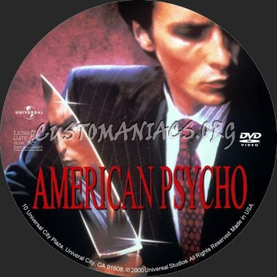 American Psycho dvd label